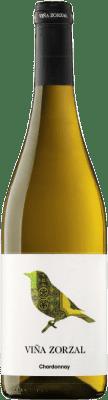 7,95 € Envío gratis | Vino blanco Viña Zorzal D.O. Navarra Navarra España Chardonnay Botella 75 cl