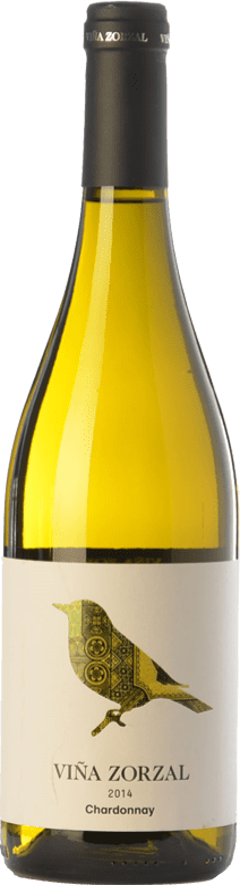 7,95 € Free Shipping | White wine Viña Zorzal D.O. Navarra Navarre Spain Chardonnay Bottle 75 cl