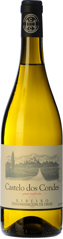 4,95 € Envoi gratuit | Vin blanc Viñedos de Altura Castelo Dos Condes Joven D.O. Ribeiro Galice Espagne Palomino Fino Bouteille 75 cl