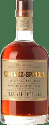 168,95 € Envío gratis | Brandy Ximénez-Spínola Solera Tres Mil Botellas D.O. Jerez-Xérès-Sherry Andalucía España Botella 70 cl