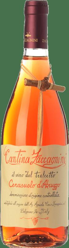 8,95 € Free Shipping | Rosé wine Zaccagnini Tralcetto D.O.C. Cerasuolo d'Abruzzo Abruzzo Italy Montepulciano Bottle 75 cl