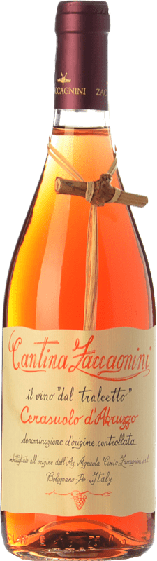 8,95 € Envío gratis | Vino rosado Zaccagnini Tralcetto D.O.C. Cerasuolo d'Abruzzo Abruzzo Italia Montepulciano Botella 75 cl