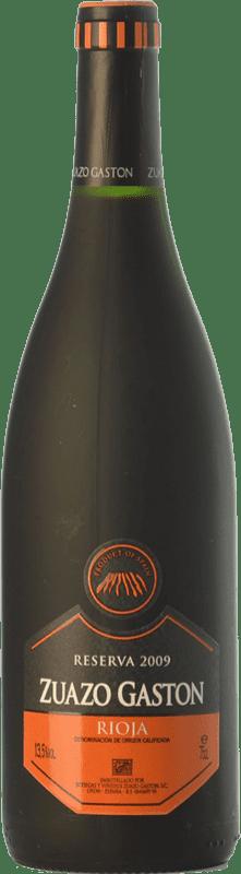 14,95 € Envío gratis | Vino tinto Zuazo Gaston Reserva D.O.Ca. Rioja La Rioja España Tempranillo Botella 75 cl