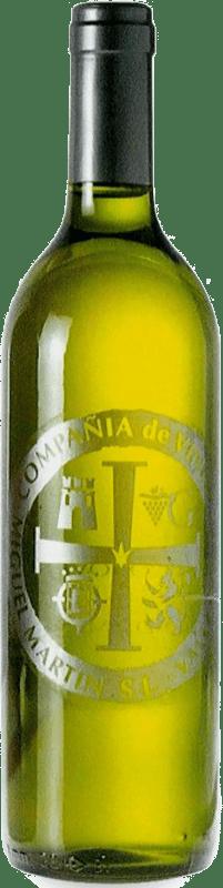 3,95 € Spedizione Gratuita | Vino bianco Thesaurus Cosechero Joven Spagna Viura Bottiglia 75 cl