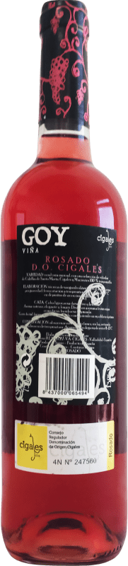 4,95 € Free Shipping | Rosé wine Thesaurus Viña Goy Joven D.O. Cigales Castilla y León Spain Tempranillo Bottle 75 cl | Thousands of wine lovers trust us to get the best price guarantee, free shipping always and hassle-free shopping and returns.