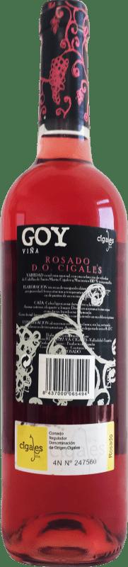 4,95 € Kostenloser Versand | Rosé-Wein Thesaurus Viña Goy Joven D.O. Cigales Kastilien und León Spanien Tempranillo Flasche 75 cl