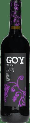 6,95 € Envio grátis | Vinho tinto Thesaurus Viña Goy Roble Crianza D.O. Ribera del Duero Castela e Leão Espanha Tempranillo Garrafa 75 cl