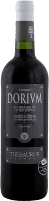 5,95 € Envío gratis | Vino tinto Thesaurus Flumen Dorium Roble D.O. Ribera del Duero Castilla y León España Tempranillo Media Botella 50 cl