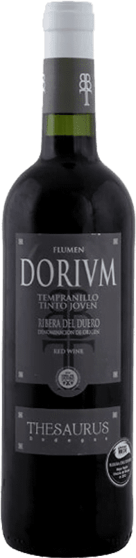 6,95 € Free Shipping | Red wine Thesaurus Flumen Dorium Roble D.O. Ribera del Duero Castilla y León Spain Tempranillo Half Bottle 50 cl
