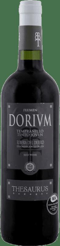 6,95 € Spedizione Gratuita | Vino rosso Thesaurus Flumen Dorium Joven D.O. Ribera del Duero Castilla y León Spagna Tempranillo Bottiglia 75 cl