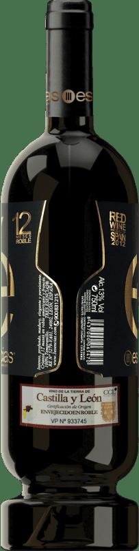22,95 € Kostenloser Versand | Rotwein Esencias «é» Premium Edition 12 Meses Crianza 2012 I.G.P. Vino de la Tierra de Castilla y León Kastilien und León Spanien Tempranillo Flasche 75 cl