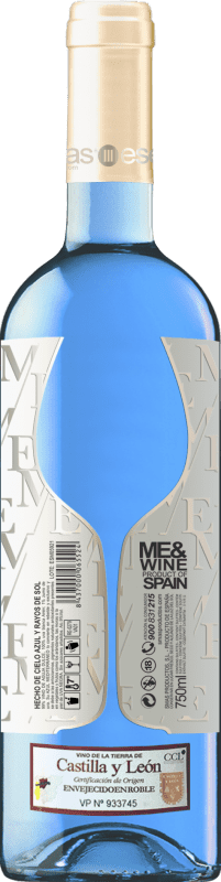 11,95 € Free Shipping   White wine Esencias ME&Blue Spain Chardonnay Bottle 75 cl