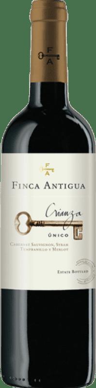 7,95 € Free Shipping | Red wine Finca Antigua Crianza D.O. La Mancha Castilla la Mancha Spain Syrah Bottle 75 cl