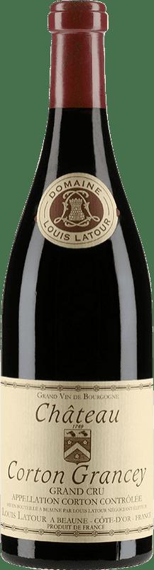 316,95 € Free Shipping | Red wine Louis Latour Château Corton Grancey 1998 A.O.C. Corton Burgundy France Pinot Black Bottle 75 cl