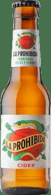 42,95 € Free Shipping   24 units box Cider La Prohibida Cider Small Bottle 25 cl