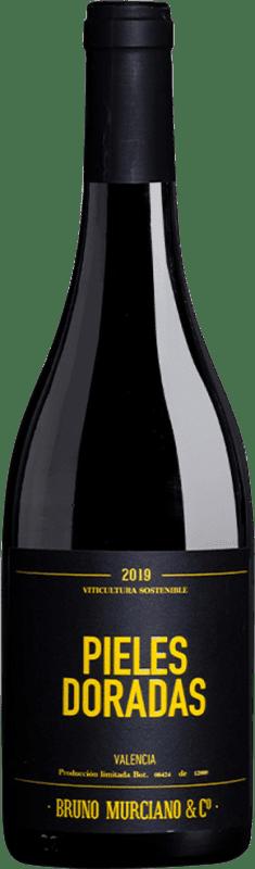 5,95 € Free Shipping | White wine Murciano & Sampedro Pieles Doradas D.O. Valencia Valencian Community Spain Malvasía, Muscat, Macabeo, Merseguera Bottle 75 cl