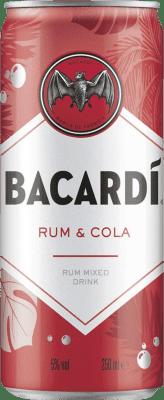 54,95 € Free Shipping | 24 units box Soft Drinks & Mixers Bacardí Bacardí & Cola Lata 25 cl