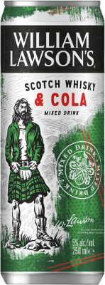 54,95 € Free Shipping | 24 units box Soft Drinks & Mixers William Lawson's Lawson's & Cola Lata 25 cl
