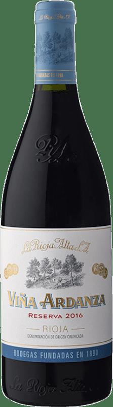 44,95 € Spedizione Gratuita | Vino rosso Rioja Alta Viña Ardanza Reserva 2009 D.O.Ca. Rioja La Rioja Spagna Tempranillo, Grenache Bottiglia Magnum 1,5 L