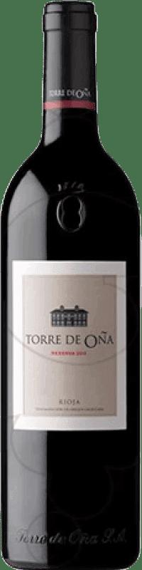 19,95 € Envío gratis | Vino tinto Torre de Oña Reserva D.O.Ca. Rioja La Rioja España Tempranillo, Mazuelo, Cariñena Botella Mágnum 1,5 L