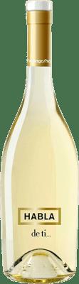 17,95 € Envío gratis | Vino blanco Habla de Ti Joven Andalucía y Extremadura España Sauvignon Blanca Botella Mágnum 1,5 L