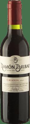 4,95 € Spedizione Gratuita | Vino rosso Ramón Bilbao Crianza D.O.Ca. Rioja La Rioja Spagna Tempranillo Mezza Bottiglia 37 cl