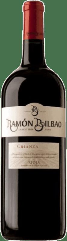 79,95 € Spedizione Gratuita | Vino rosso Ramón Bilbao Reserva D.O.Ca. Rioja La Rioja Spagna Tempranillo, Graciano, Mazuelo, Carignan Bottiglia Speciale 5 L
