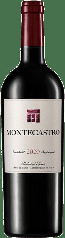 18,95 € Envoi gratuit | Vin rouge Montecastro D.O. Ribera del Duero Castille et Leon Espagne Tempranillo, Merlot, Cabernet Sauvignon Bouteille 75 cl