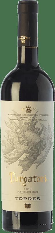 28,95 € Free Shipping | Red wine Torres Purgatori Crianza D.O. Costers del Segre Catalonia Spain Syrah, Grenache, Mazuelo, Carignan Bottle 75 cl