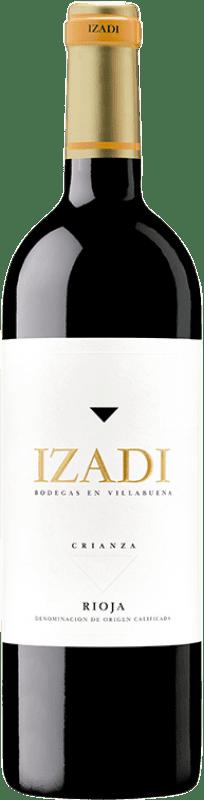 9,95 € Spedizione Gratuita | Vino rosso Izadi Crianza D.O.Ca. Rioja La Rioja Spagna Tempranillo Bottiglia 75 cl
