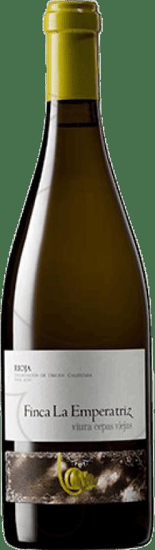 19,95 € Envío gratis | Vino blanco Hernáiz Finca La Emperatriz Cepas Viejas Crianza D.O.Ca. Rioja La Rioja España Viura Botella 75 cl