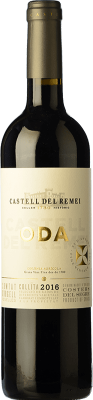 9,95 € Envío gratis | Vino tinto Castell del Remei Oda Crianza D.O. Costers del Segre Cataluña España Tempranillo, Merlot, Cabernet Sauvignon Botella 75 cl