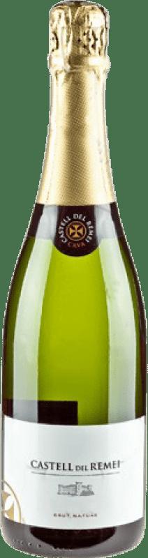 8,95 € Free Shipping | White sparkling Castell del Remei Brut Nature Reserva D.O. Cava Catalonia Spain Macabeo, Xarel·lo, Parellada Bottle 75 cl