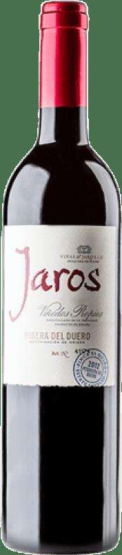 26,95 € Envío gratis | Vino tinto Viñas del Jaro Jaros Crianza D.O. Ribera del Duero Castilla y León España Tempranillo, Merlot, Cabernet Sauvignon Botella Mágnum 1,5 L