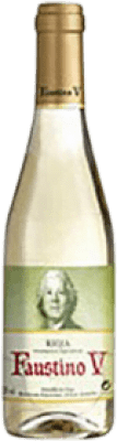 3,95 € Free Shipping | White wine Faustino V Joven D.O.Ca. Rioja The Rioja Spain Macabeo Half Bottle 37 cl