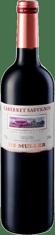 8,95 € Envío gratis | Vino tinto De Muller Crianza D.O. Tarragona Cataluña España Cabernet Sauvignon Botella 75 cl
