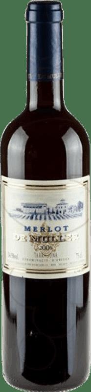 7,95 € Envío gratis | Vino tinto De Muller Negre Crianza D.O. Tarragona Cataluña España Merlot Botella 75 cl
