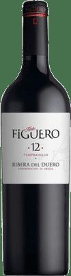 32,95 € Envío gratis | Vino tinto Figuero 12 meses Crianza D.O. Ribera del Duero Castilla y León España Tempranillo Botella Mágnum 1,5 L