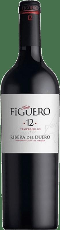 32,95 € Free Shipping | Red wine Figuero 12 meses Crianza D.O. Ribera del Duero Castilla y León Spain Tempranillo Magnum Bottle 1,5 L
