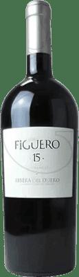 53,95 € Envío gratis | Vino tinto Figuero 15 meses Reserva D.O. Ribera del Duero Castilla y León España Tempranillo Botella Mágnum 1,5 L