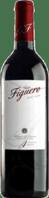 4,95 € Envío gratis | Vino tinto Figuero 4 Meses Roble D.O. Ribera del Duero Castilla y León España Tempranillo Media Botella 37 cl