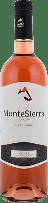 5,95 € Envoi gratuit | Vin rose Pirineos Montesierra Joven D.O. Somontano Aragon Espagne Tempranillo, Grenache Bouteille 75 cl