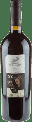 44,95 € Free Shipping | Red wine Perelada XX Aniversario Crianza 2002 D.O. Empordà Catalonia Spain Merlot, Syrah, Cabernet Sauvignon Bottle 75 cl