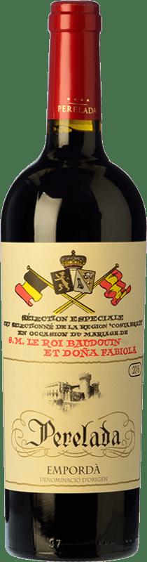 16,95 € Free Shipping | Red wine Perelada Reina Fabiola Reserva D.O. Empordà Catalonia Spain Merlot, Syrah, Grenache, Cabernet Sauvignon, Mazuelo, Carignan Bottle 75 cl