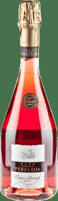 9,95 € Envío gratis | Espumoso rosado Perelada Cuvée Rosat Brut Joven D.O. Cava Cataluña España Trepat Botella 75 cl