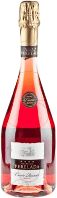 9,95 € Kostenloser Versand | Rosé Sekt Perelada Cuvée Rosat Brut Joven D.O. Cava Katalonien Spanien Trepat Flasche 75 cl