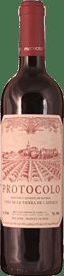3,95 € Envío gratis | Vino tinto Dominio de Eguren Protocolo Joven La Rioja España Tempranillo Botella 75 cl