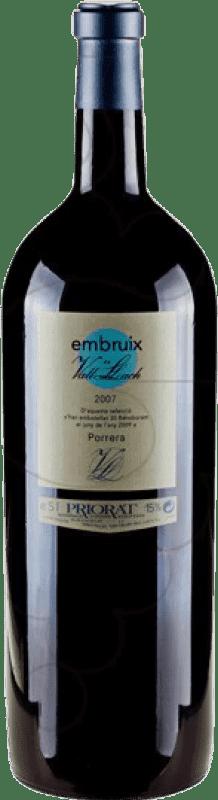 124,95 € Free Shipping | Red wine Vall Llach Embruix Crianza D.O.Ca. Priorat Catalonia Spain Merlot, Syrah, Grenache, Cabernet Sauvignon, Mazuelo, Carignan Special Bottle 5 L
