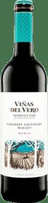 4,95 € Kostenloser Versand | Rotwein Viñas del Vero Roble D.O. Somontano Aragón Spanien Merlot, Cabernet Sauvignon Flasche 75 cl