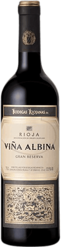 9,95 € Free Shipping | Red wine Bodegas Riojanas Viña Albina Gran Reserva D.O.Ca. Rioja The Rioja Spain Tempranillo, Graciano, Mazuelo, Carignan Bottle 75 cl